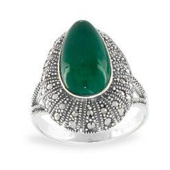 Marcasite jewelry ring HR1109 1
