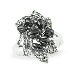 Marcasite jewelry ring HR1116 1