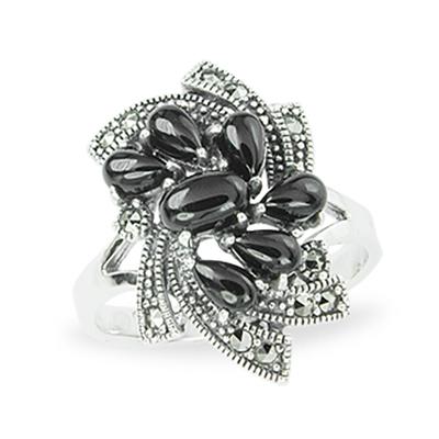 Marcasite jewelry ring HR1116 1