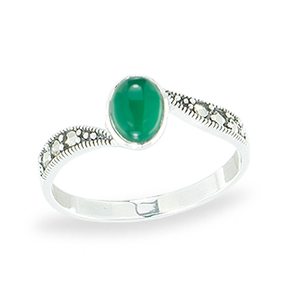 Marcasite jewelry ring HR1129 1