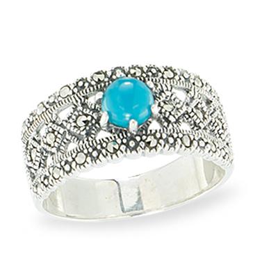 Marcasite jewelry ring HR1130 1