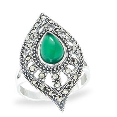 Marcasite jewelry ring HR1138 1