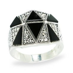 Marcasite jewelry ring HR1151 1