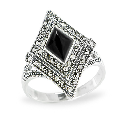 Marcasite jewelry ring HR1159 1