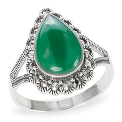Marcasite jewelry ring HR1169 1