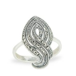 Marcasite jewelry ring HR1180 1