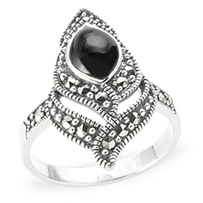 Marcasite jewelry ring HR1184 1