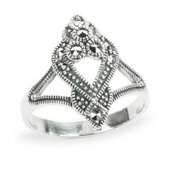 Marcasite jewelry ring HR1188 1