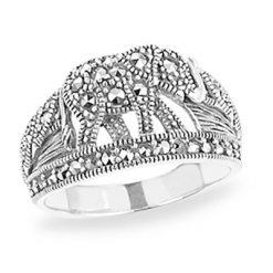 Marcasite jewelry ring HR1195 1