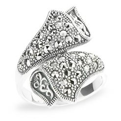 Marcasite jewelry ring HR1196 1