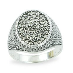 Marcasite jewelry ring HR1208 1