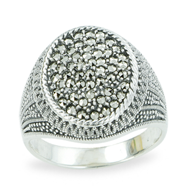 Marcasite jewelry ring HR1208 1