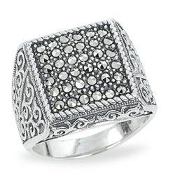 Marcasite jewelry ring HR1209 1