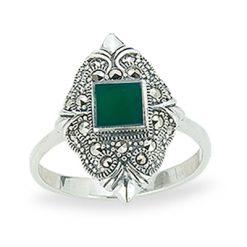 Marcasite jewelry ring HR1224 1