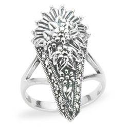 Marcasite jewelry ring HR1225 1