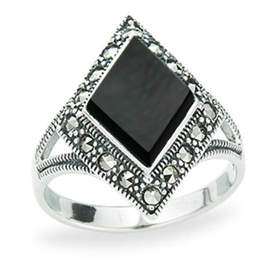 Marcasite jewelry ring HR1229 1