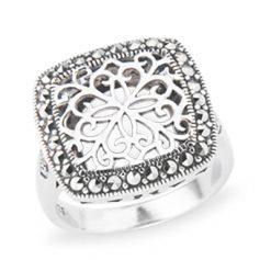 Marcasite jewelry ring HR1237 1
