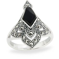 Marcasite jewelry ring HR1249 1