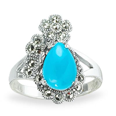 Marcasite jewelry ring HR1256 1