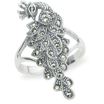 Marcasite jewelry ring HR1260 1