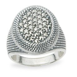 Marcasite jewelry ring HR1261 1