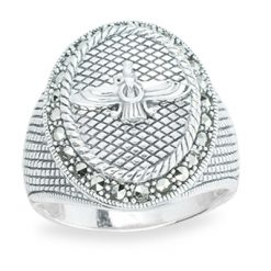 Marcasite jewelry ring HR1264 1