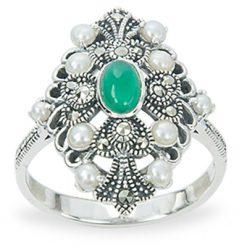 Marcasite jewelry ring HR1269 1