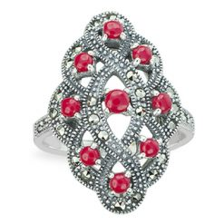 Marcasite jewelry ring HR1281 1