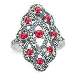 Marcasite jewelry ring HR1281 1