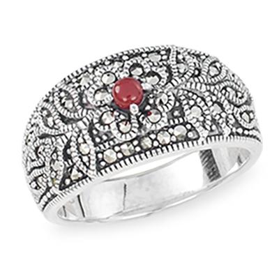 Marcasite jewelry ring HR1291 1