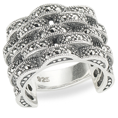 Marcasite jewelry ring HR1299 5L 1