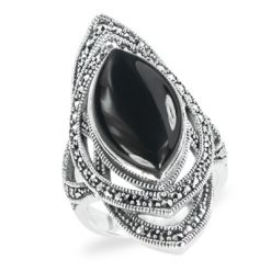 Marcasite jewelry ring HR1307 1