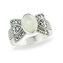 Marcasite jewelry ring HR1311 1