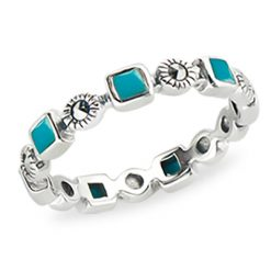Marcasite jewelry ring HR1314 1