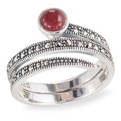 Marcasite jewelry ring HR1318 1