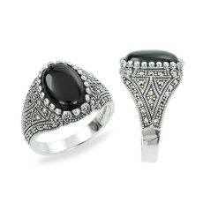 Marcasite jewelry ring HR1325 1