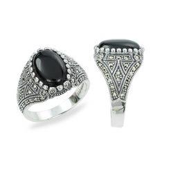 Marcasite jewelry ring HR1325 1