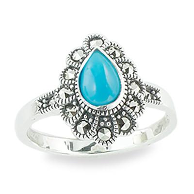 Marcasite jewelry ring HR1340 1