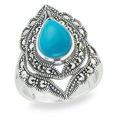 Marcasite jewelry ring HR1342 1