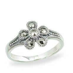 Marcasite jewelry ring HR1361 1