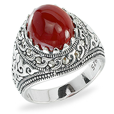 Marcasite jewelry ring HR1376 1