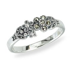 Marcasite jewelry ring HR1377 1