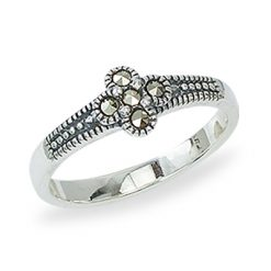 Marcasite jewelry ring HR1381 1