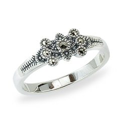 Marcasite jewelry ring HR1382 1