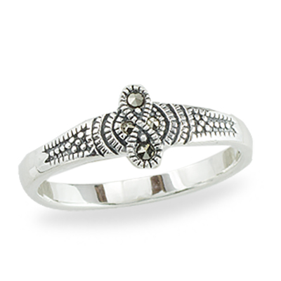 Marcasite jewelry ring HR1385 1