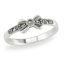 Marcasite jewelry ring HR1387 1