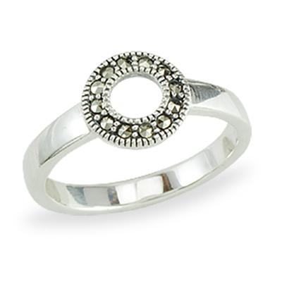 Marcasite jewelry ring HR1388 1