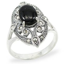 Marcasite jewelry ring HR1396 1
