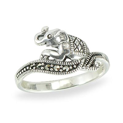 Marcasite jewelry ring HR1400 1