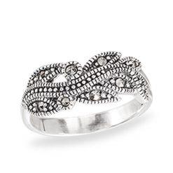 Marcasite jewelry ring HR1407 1